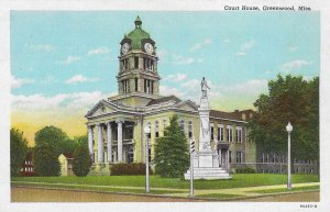 GREENWOOD , Mississippi , 1910s ; Court House & Confederate Monument