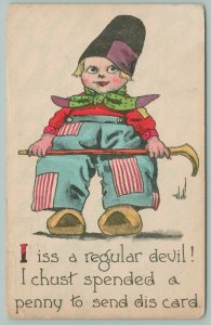 Bernhardt Wall~Lil Dutch Boy Says He's A Regular Devil: Spended A Penny~Patches