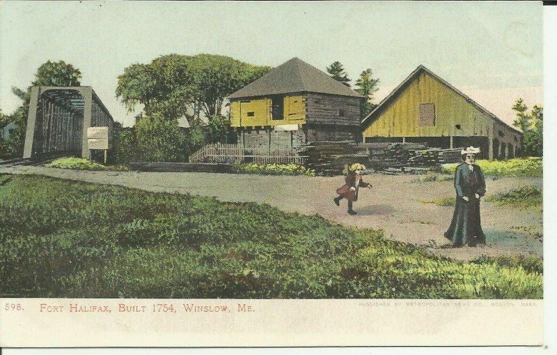 Winslow, Me., Fort Halifax, Built 1754