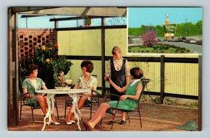 Meridian MS-Mississippi, Holiday Inn, Chrome Postcard