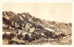 Medora North Dakota~Roosevelt National Park View~1939 Real Photo Postcard