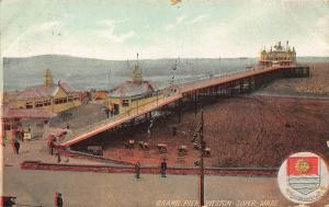 Grand Pier Weston Super Mare Esplanade Beach Postcard