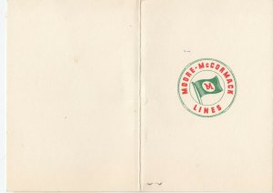 MOORE-McCORMACK LINES, S.S. URUGUAY, Dinner Menu 1952