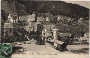 CPA Le MONT-DORE-Chalets et Villas vus du Casino (46541)