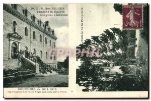 Old Postcard Lady of the Snows During the War Hospital Benevole