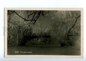 150783 LATVIA RIGA Kanals ziema Vintage photo RPPC