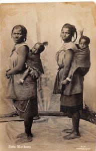 D41/ Johannesburg South Africa Foreign RPPC Postcard c1930s Zulu Mothers Kids