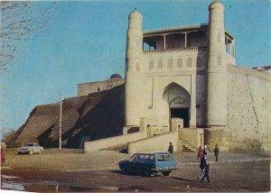 Uzbekistan Postcard Ark of Bukhara tourist vintage classic car