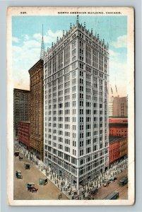 Chicago IL-Illinois, North American Building, Skyscraper Vintage c1923 Postcard