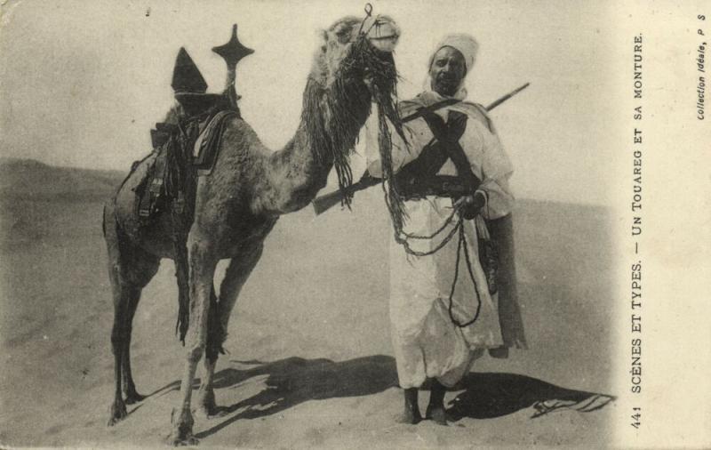 algeria, Armed Tuareg with Camel, Desert Nomads (1914) Scenes et Types, Feldpost