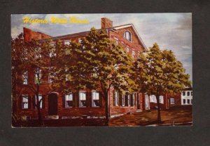 PA Wills House  Civil War Gettysburg Lincoln Address Pennsylvania Postcard
