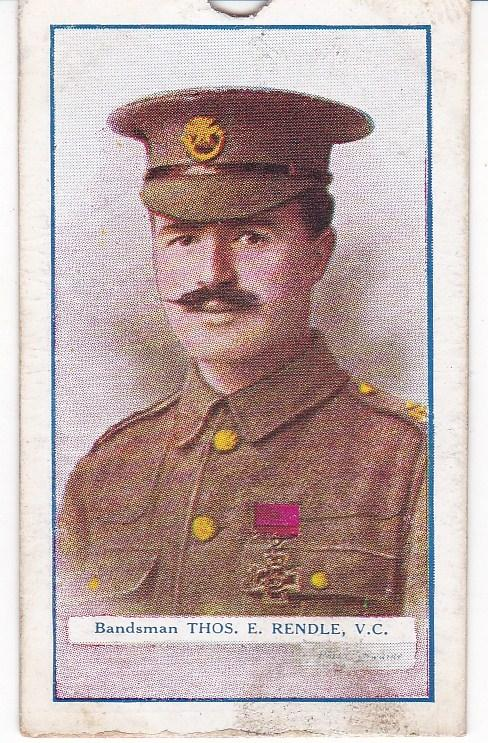 Cigarette Cards Gallaher Great War V C Heroes 3rd series No 51 Thomas E Rendle