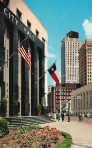 Fort Worth, TX, City Hall, Throckmorton Street, Chrome Vintage Postcard g9062