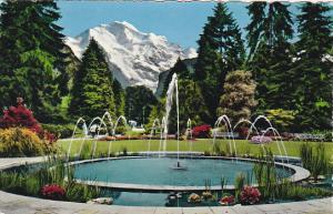 Switzerland Interlaken Kursaal-Garten und die Jungfrau 1959