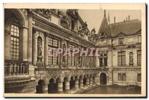 Old Postcard La Rochelle Inner courtyard of the Hotel de Ville