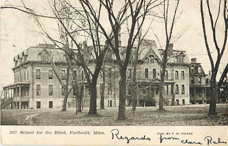 School for the Blind Faribault Minnesota MN 1907 Divided Back