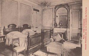 PARIS, France, 1900-10s; Hotel Continental, Grande Chambre avec vue sur le Ja...