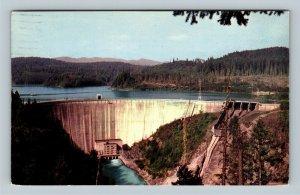 Alder Dam, Nisqually River, Mount Rainier, La Grande Washington Vintage Postcard