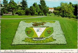 Crescent Park Moose Jaw SK Saskatchewan Jubilee Flower Bed Unused Postcard C3