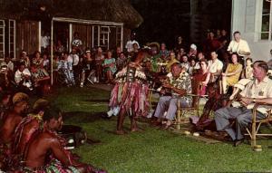 fiji islands, KOROLEVU, Beach Hotel, Yanqona Ceremony (1960s) Curteich 1118