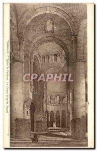 Old Postcard Tournus Church St Philibert The choir Sagot
