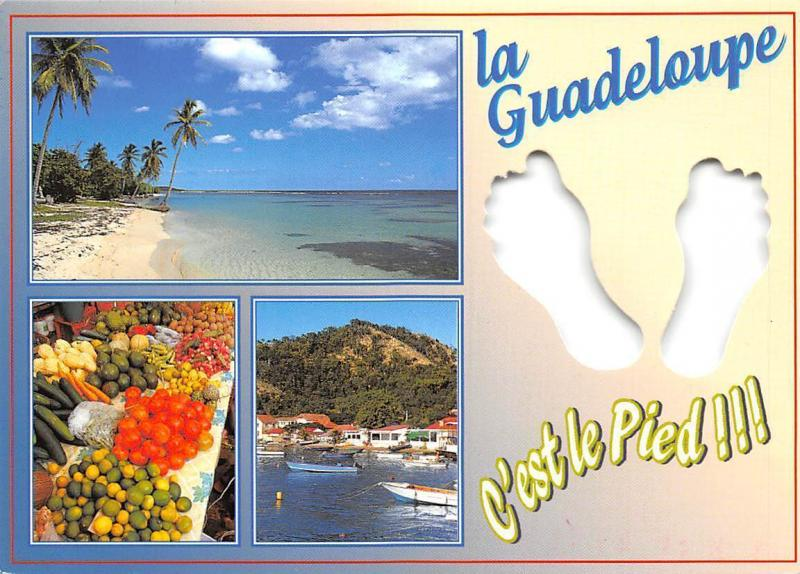 Guadeloupe Antilles Francaises French West Indies Beach Boats Fruits