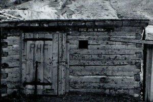 First Jail Plummer Bannack Montana RHF 1862 RPPC B&W Vintage