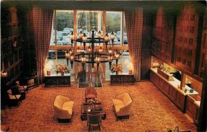 Washington Pennsylvania~Check-In Desk~Chandelier in Ramada Inn Lobby 1980s