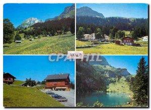 Postcard Modern Axalp ob Brienz Hinterburgsee