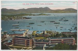 Hong Kong (China) The New Naval Dock Yard ca. 1910