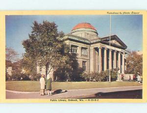 Unused Pre-1980 LIBRARY SCENE Oshkosh Wisconsin WI hs2015