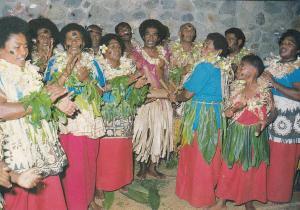 Hide Away Resort Fijian Entertainment Group Dancers Fiji Postcard