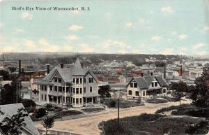Woonsocket Rhode Island birds eye view of area antique pc Z12442