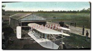 Old Postcard Jet Aviation Airplane Wilbur Wright's re-entry to the shed after...