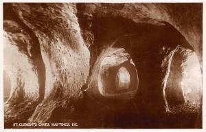 Vintage Real Photo Postcard St. Clement's Caves, West Hill, Hastings, Sussex K33