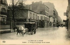 CPA PARIS Crue de la Seine 1910 Rue de Lourmel Passage du boulanger (579766)