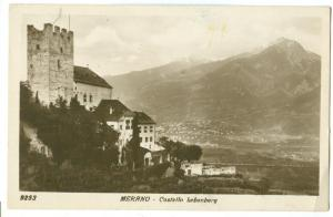 Italy, Merano, Castello bebenberg, 1931 used real photo RPPC