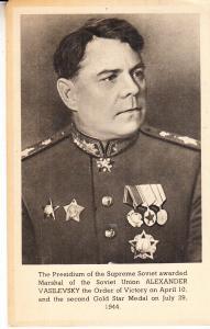 Alexander Vasilevsky Marshall of the Soviet Union 1944