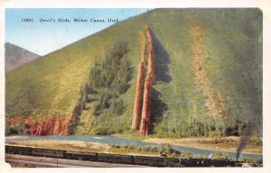 USA Devil's Slide, Weber Canon, Utah postcard