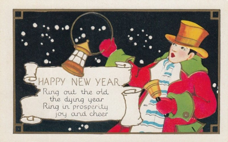 NEW YEAR, 1900-10s; Watchman with Bell