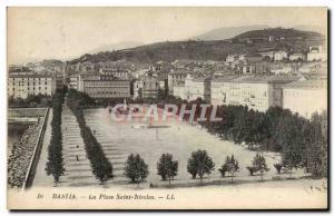 Old Postcard Bastia Place Saint Nicolas