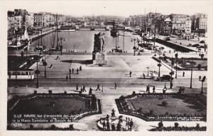 France Le Havre Vue d'ensemble des Jardins de la Place Gambette et Bassin du ...