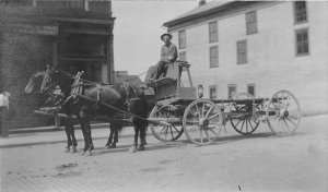 F82/ Occupational RPPC Postcard c1910 Delivery Wagon Horse 2
