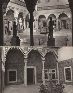 Tunis Le Musee du Bardo Alaoui Petit Patio 2x RPC Postcard s
