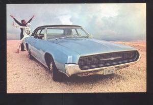 1967 FORD THUNDERBIRD VINTAGE CAR DEALER ADVERTISING POSTCARD '67 TBIRD CARS