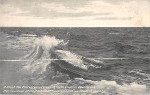 uk21353 rough sea channel islands uk