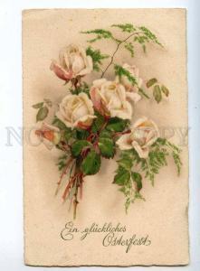 240500 EASTER White ROSES Bouquet Flower KLEIN Vintage PC