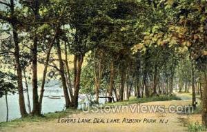 Lovers Lane, Deal Lake Asbury Park NJ 1908