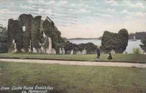 Crom Castle Ruins Enniskillen, County Fermanagh, Northern Ireland, UK, PU-1907