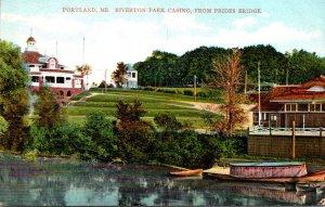 Maine Portland Riverton Park Casino From Prides Bridge